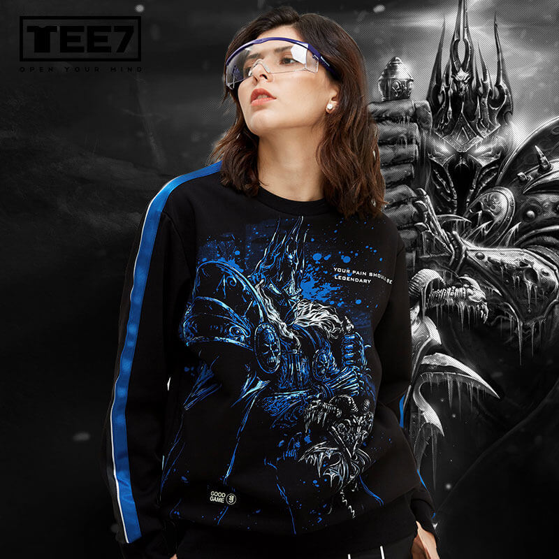 World Of Warcraft Lich King Hoodie Wow Arthas Menethil