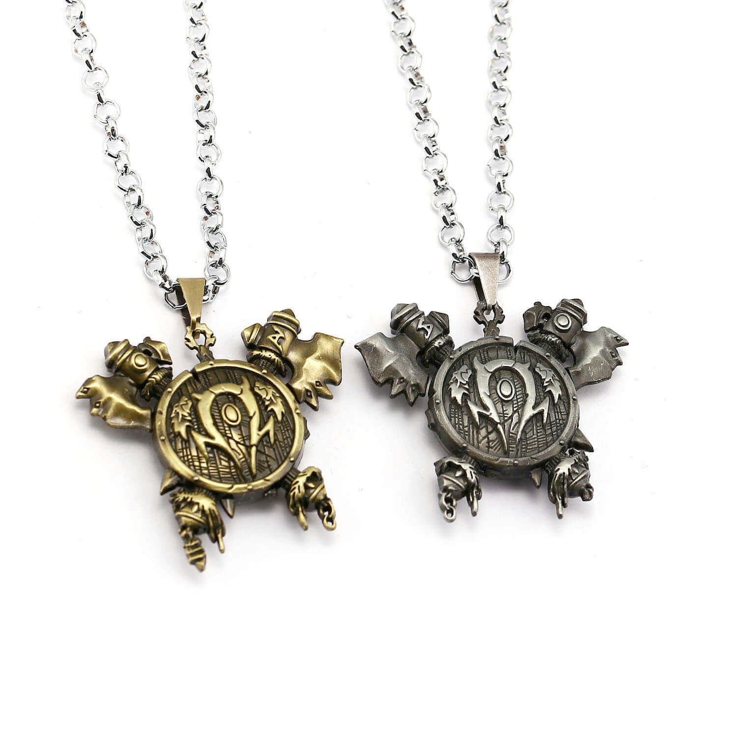 World of Warcraft Orc Horde 3D Logo Pendant Necklace