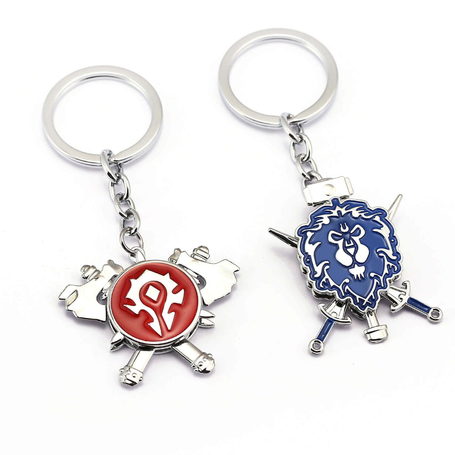 WOW Alliance Horde Rotate Logo Keychain World of Warcraft Pendant